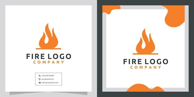 火のアイコン要素のロゴデザイン