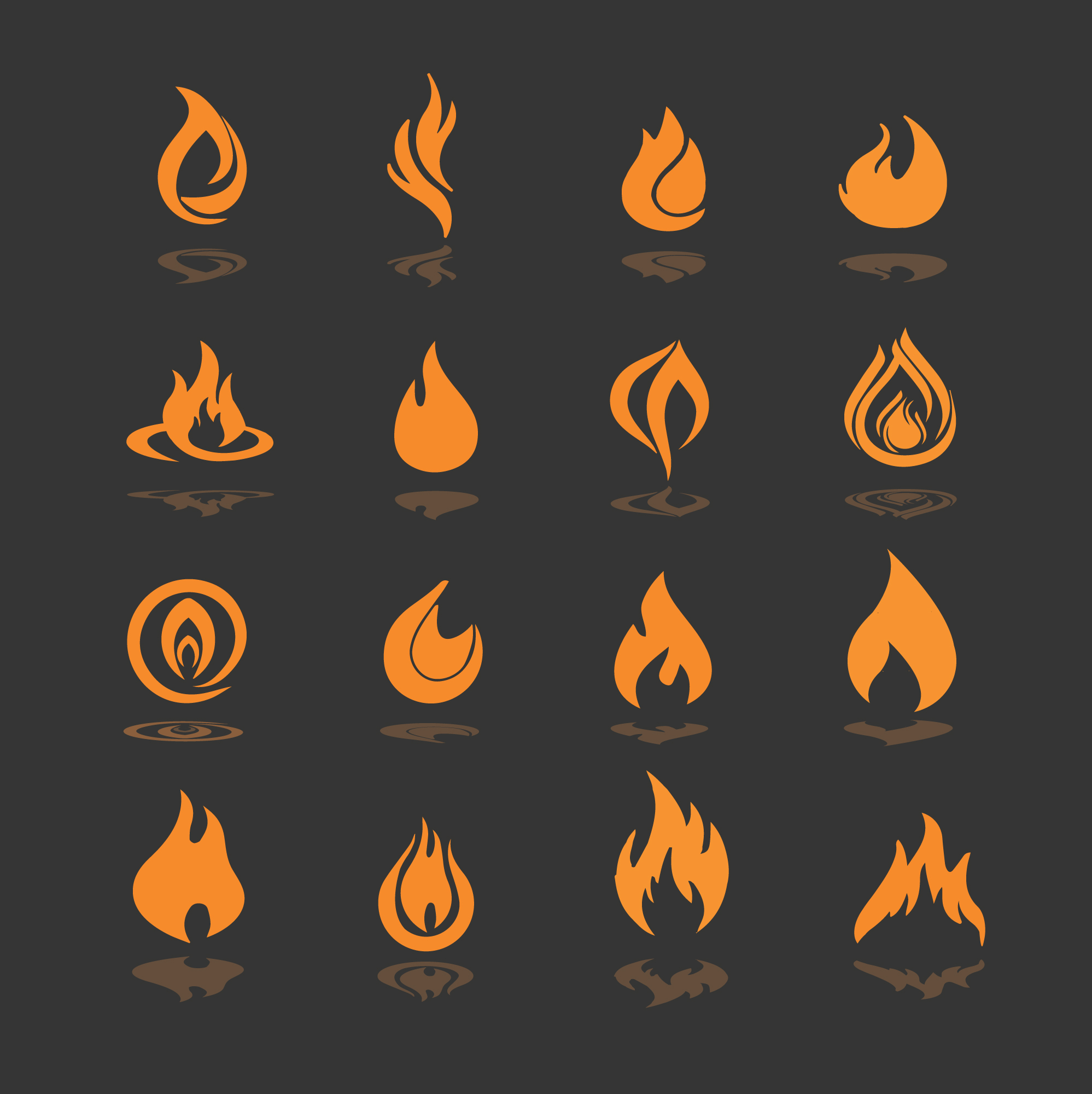 Fire icons collection