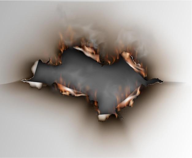 紙に火をつける