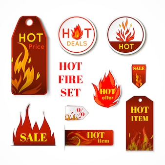 Fire label set