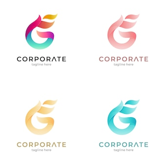 Fire letter g gradient logo variation