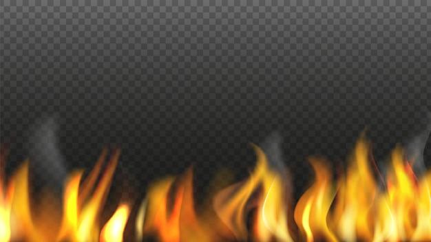 Fire light for design, flame fiery burn