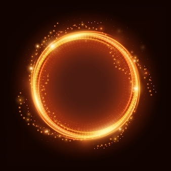 Fire light ring with spark vector