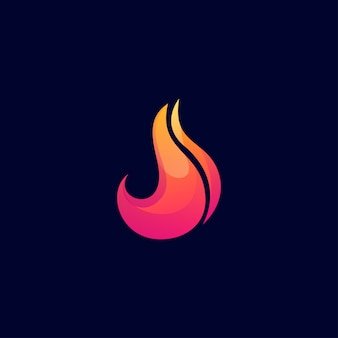 Fire logo design  abstract