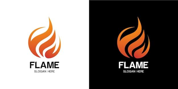 현대적인 스타일의 미니멀리즘으로 설정된 화재 로고