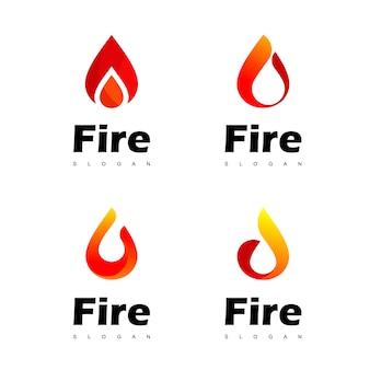 Fire logo set