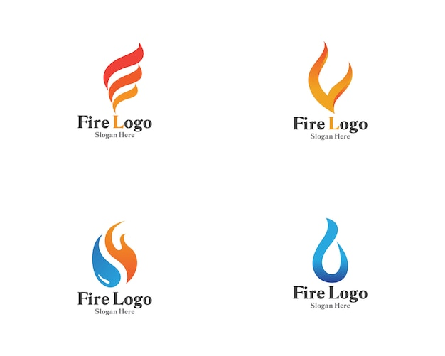 Fire logo symbol gas and oil vector