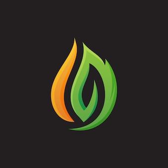 Fire logo template design vector