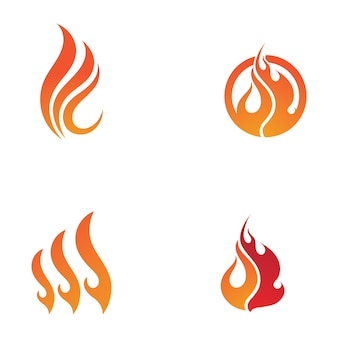 Шаблон логотипа огонь пламя клипарт символ значок вектор