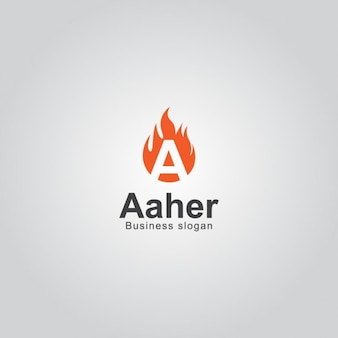 Fire logo with letter a