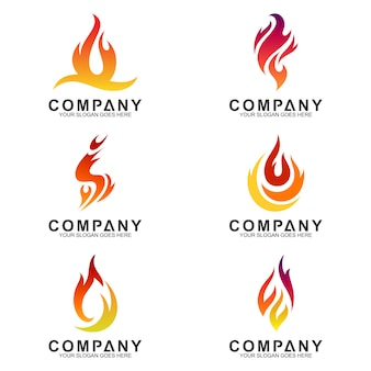 Fire logotype collection