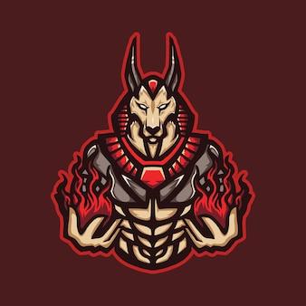 火の魔術師のマスコットのロゴ
