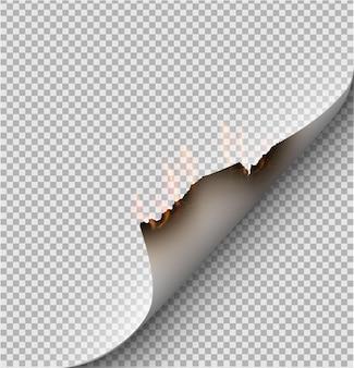 火の紙。図