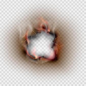 Fire in paper