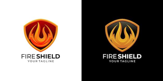 防火シールドとエネルギーのロゴ