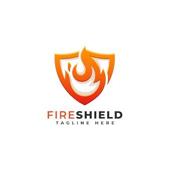 Fire shield logo template