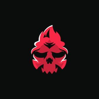 Fire skull head