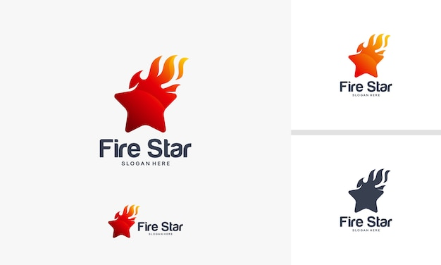 Fire star symbol vector