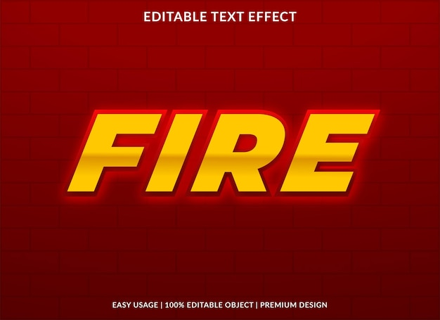 Fire text effect with bold style