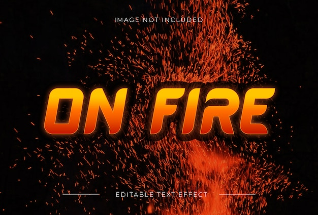 On fire text effect