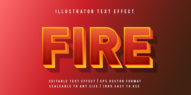 Fire text style font effect