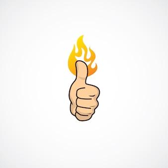 Fire thumb up