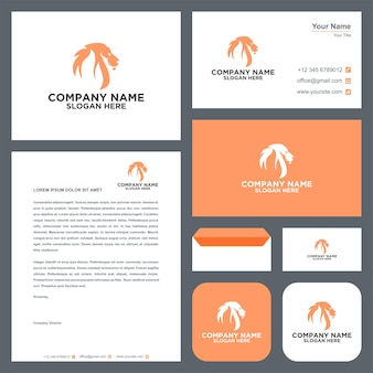 Fire tiger logo and business card