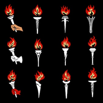 Fire torch set.