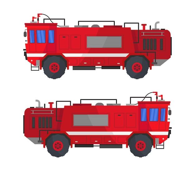 分離された消防車のクリップアート