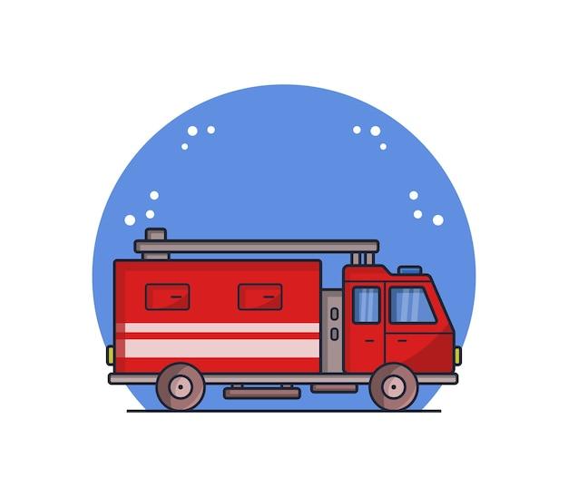 Illustrazione di camion dei pompieri