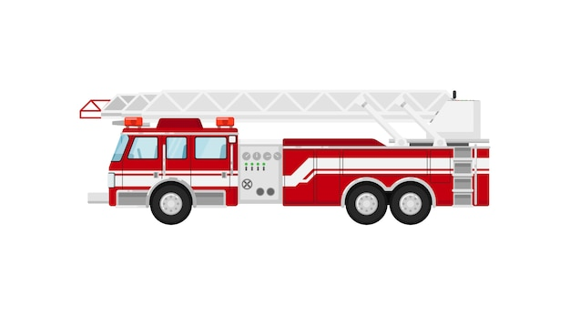 Fire truck isolated  illustration