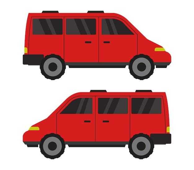 Fire van on white