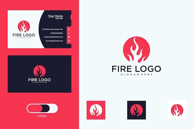 サークルのロゴデザインと名刺で火