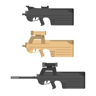 銃器自動小銃、機関銃。アサルトライフル。武器のコレクション。