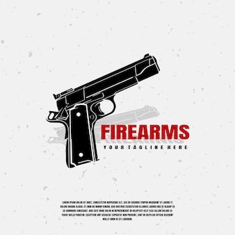 銃器イラストロゴプレミアム
