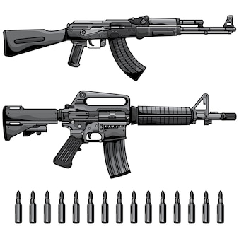 Firearms set automatic machine gun