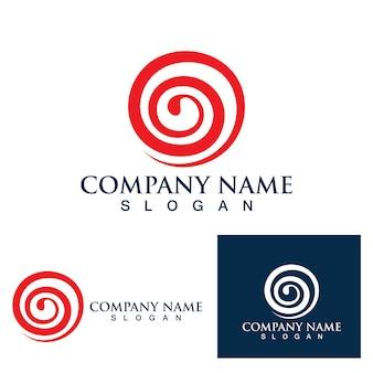 Огненный шар вихрь логотип и символ векторное изображение