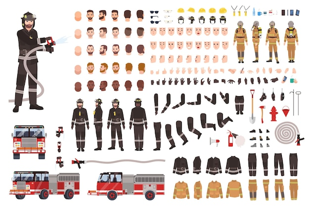 Firefighter creation set or constructor.