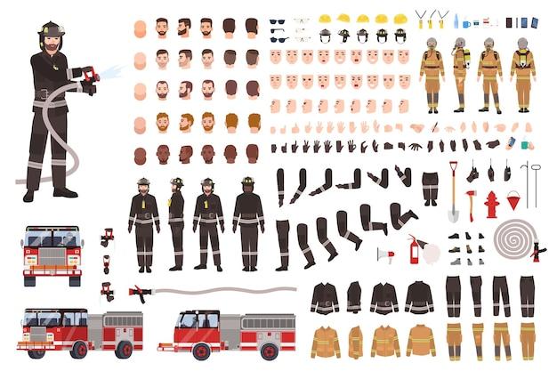 Набор или конструктор для создания пожарного.