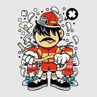 消防士キッド漫画