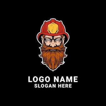 Дизайн логотипа пожарный
