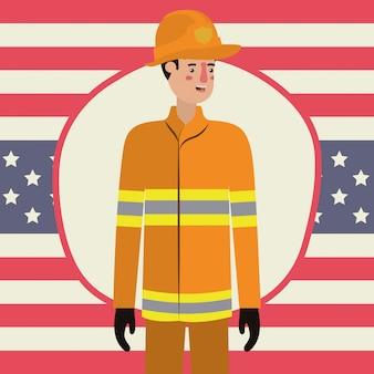 労働者の日の消防士