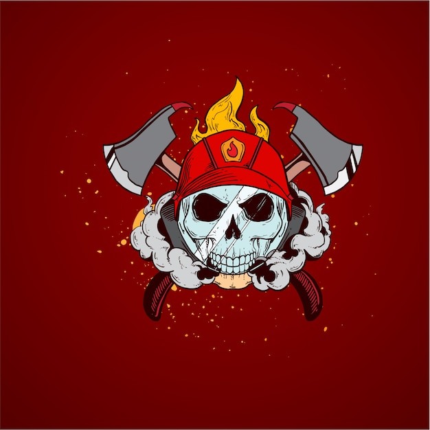 Firefighter skull profession