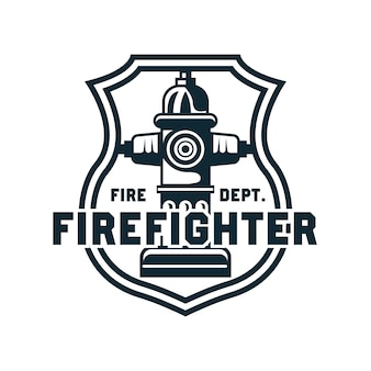 Firefighter with text space for your slogan