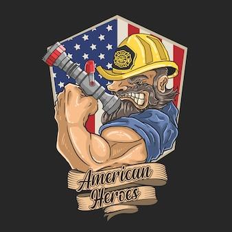 人命を救うために熱心に消防士