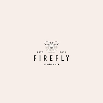 Firefly logo hipster retro vintage