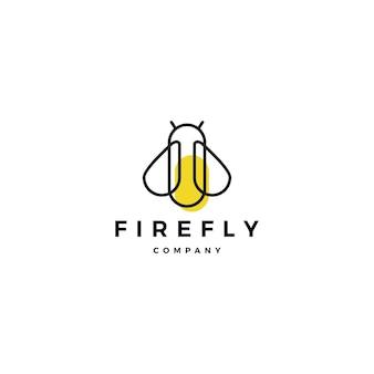 Fireflyロゴベクトルアイコンのイラストデザインのインスピレーション