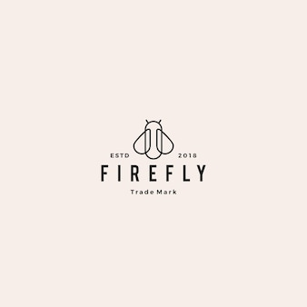 Fireflyロゴのヒップスターレトロヴィンテージ