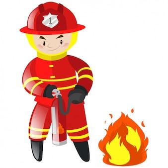 Fireman background design