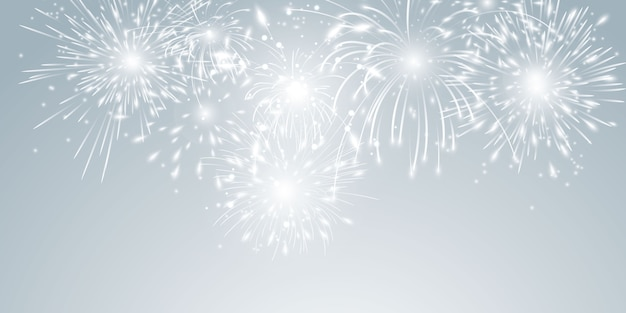 불꽃 놀이 및 크리스마스 테마 축하 파티 새해 복 많이 받으세요 배경 디자인